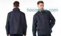 ihocon: London Fog Men's Moto Dobby Hipster Coat (M)