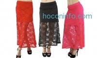 ihocon: Women's Lace Over Maxi Skirt