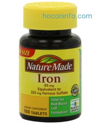 ihocon: Nature Made Iron 65mg, 180 Tablets