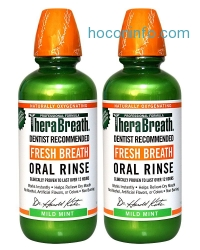 ihocon: TheraBreath Dentist Recommended Fresh Breath Oral Rinse - Mild Mint Flavor, 16 Ounce (Pack of 2)