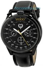 ihocon: Brillier Men's 13.02-01 #BUZZ Analog Display Quartz Black Watch