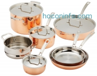 ihocon: Cuisinart CTP-11AM Copper Tri-Ply Stainless Steel 11-Piece Cookware Set