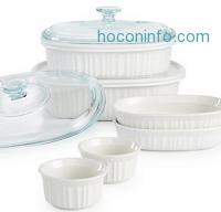 ihocon: Corningware French White 10 Piece Bakeware Set