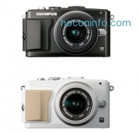 ihocon: Olympus E-PL5 Mirrorless 16MP Digital Camera + FL-LM1 Flash + 14-42mm Lens