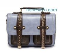 ihocon: Avber Women Large Vintage Manmade Saddle Messenger Bag
