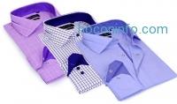 ihocon: Larry Levine Men's 100% Cotton Dress Shirts