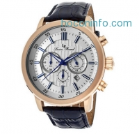 ihocon: LUCIEN PICCARD 12011-RG-023S Monte Viso Men's Watch