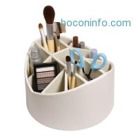 ihocon: Stock Your Home Cream Desk Organizer Makeup Brush Holder Rotating Storage Caddy