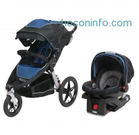 ihocon: Graco Relay Click Connect Jogging Stroller Travel System, Jaguar