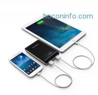 ihocon: RAVPower 10400mAh 雙充電行動電源 External Backup Battery Power Bank