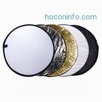 ihocon: Etekcity 24 (60cm) 5-in-1 Collapsible Photography Reflector攝影用反光板五個