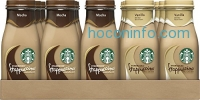 ihocon: Starbucks Frappuccino, Mocha and Vanilla Flavors, 9.5 Ounce Glass Bottles (Pack of 15)