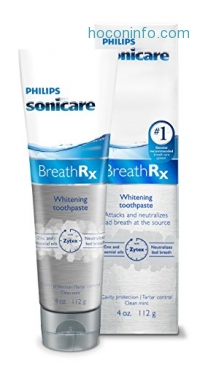 ihocon: Philips Sonicare Breathrx Whitening Toothpaste 4oz牙醫美白牙膏