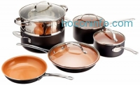 ihocon: GOTHAM STEEL 10-Piece Kitchen Nonstick Frying Pan And Cookware Set - BRAND NEW