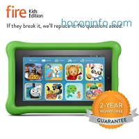 ihocon: Fire Kids Edition Tablet, 7 Display, 8 GB, Green Kid-Proof Case