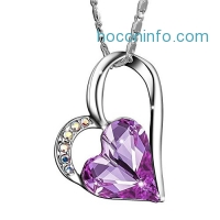 ihocon: Sivery 'Eternal Love' Women Heart Necklace with Swarovski Crystal, Jewelry for Women, Mothers Day Gifts