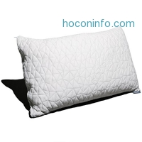 ihocon: Coop Home Goods Shredded Hypoallergenic Certipur Memory Foam Pillow with washable removable cooling bamboo cover -Queen