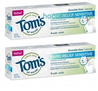 ihocon: Tom's of Maine Rapid Relief Sensitive Natural Toothpaste Multi Pack, Fresh Mint, 2 Count