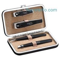 ihocon: Lismile Tweezers & Nail Clippers Set w/ Leather Gift Case 指甲刀2把鑷子2把收納皮套