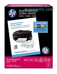 ihocon: HP Paper, Multipurpose Ultra Poly Wrap, 20lb, 8.5 x 11, Letter, 96 Bright, 161 whiteness, 500 Sheets / 1 Ream (212500R) Made In The USA