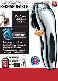 ihocon: Conair Cord/Cordless Rechargeable 22pc. Home Haircutting Kit無線電動理髮器