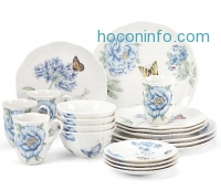 ihocon: Butterfly Meadow™ Blue 28-piece Dinnerware Set by Lenox