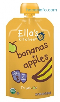 ihocon: Ella's Kitchen Organic Stage 2, Bananas + Apples, 3.5 Ounce (Pack of 6)