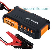 ihocon: Suaoki G7 600A Peak 18000mAh 汽車啓動行動電源 Portable Car Jump Starter Battery Booster with Dual USB Charging Port and LED Flashlight