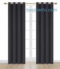 ihocon: Onlyyou Thermal Blackout Curtain, 1 Panel, 52 x 84 Inch, Black 遮光窗帘