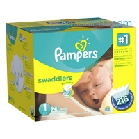 ihocon: Pampers Swaddlers Newborn Diapers Size 1, 216 Count