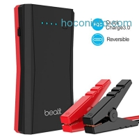 ihocon: [Quick Charge 3.0 & USB C]BEATIT TECH 500A Peak 10800mAh Portable Jump Starter Power Pack Phone Power Bank With USB Type-C 5V/3A Port Auto Battery Pack Booster Charger