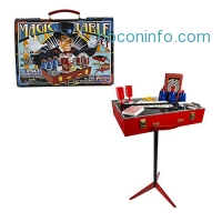 ihocon: Fantasma Toys Retro Magic Table Set – Loaded with Props and Featuring 150 Magic Tricks – Includes Instructional Video Download and Book of Secrets – Ages 6 and Up