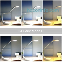 ihocon: Deckey LED Table Lamp,3 Color Modes