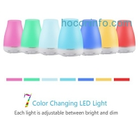ihocon: URPOWER 2nd Version 7 Color LED Lights Changing Essential Oil Diffuser色變換超音波精油擴香機/室內加濕器