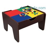 ihocon: Kidkraft 2-in-1 Activity Table Espresso雙面遊戲桌