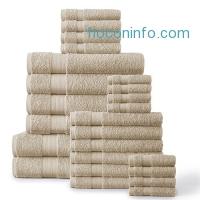 ihocon: 24-Piece 500 GSM Towel Set, Beige