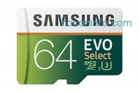 ihocon: Samsung 64GB 100MB/s (U3) MicroSDXC EVO Select Memory Card with Adapter (MB-ME64GA/AM)