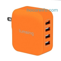 ihocon: Lumsing Quick Charge 4 Port Wall Charger快速充電器