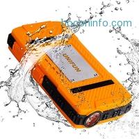 ihocon: Unifun 10400mAh Waterproof Power Bank with LED Flashlight 內建手電筒行動電源