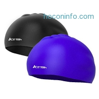 ihocon: Ace Teah Silicone Adult Swimming Caps(2 Pack)矽膠泳帽