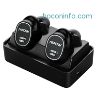 ihocon: Mpow True Stereo Bluetooth Earbuds w/ Mic, Magnetic Charging Box藍芽無線麥克風耳機