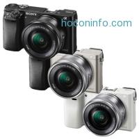ihocon: Sony Alpha a6000 Mirrorless Camera w/16-50mm Lens (Black, Silver or White)