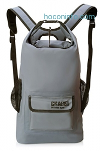 ihocon: Chaos Ready Waterproof Backpack – Dry Bag – Quality Heavy Duty - Padded Shoulder Straps - Mesh Side Pockets - Easy Access Front Pocket.