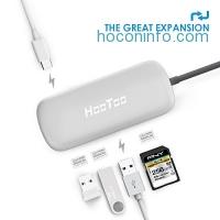 ihocon: HooToo Shuttle 3 Ports USB 3.1 Type C Charging and Card Reader Hub