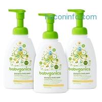 ihocon: Babyganics Baby Shampoo + Body Wash, Chamomile Verbena, 16oz Pump Bottle (Pack of 3)