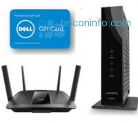 ihocon: Linksys EA8500 Wireless AC2600 Router + Linksys High Speed DOCSIS 3.0 Cable Modem (CM3024) + $50 Dell eGift Card
