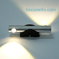 ihocon: Deckey 6W Angle-adjustable Warm White 2 LED Wall Sconces Light 壁燈-左右各1燈泡,可360度旋轉