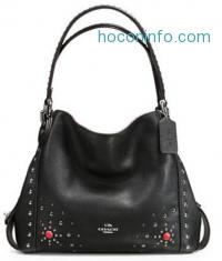 ihocon: COACH Western Rivets Edie Leather Shoulder Bag