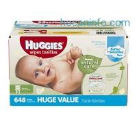 ihocon: Huggies Natural Care Baby Wipes, Refill, 648 ct, Fragrance Free, Hypoallergenic,  Aloe and Vitamin E