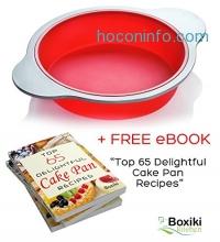 ihocon: Silicone Round Cake Pan, 9-inch 矽膠蛋糕模送免費電子食譜